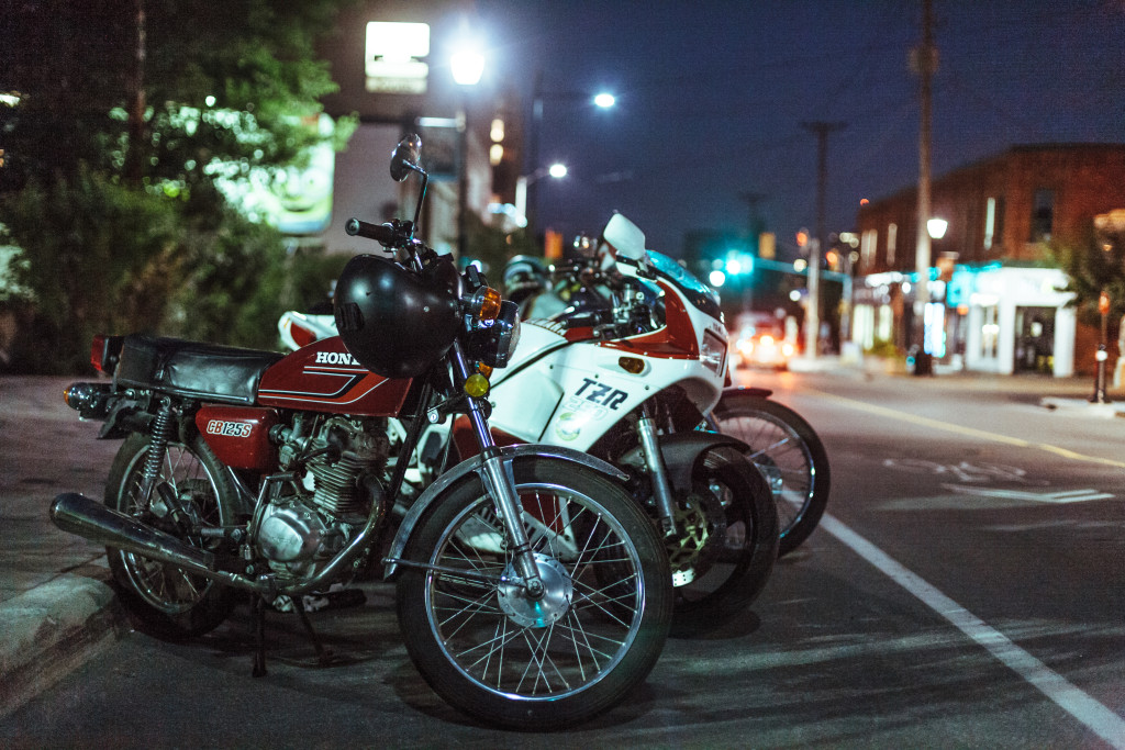 bikes close up