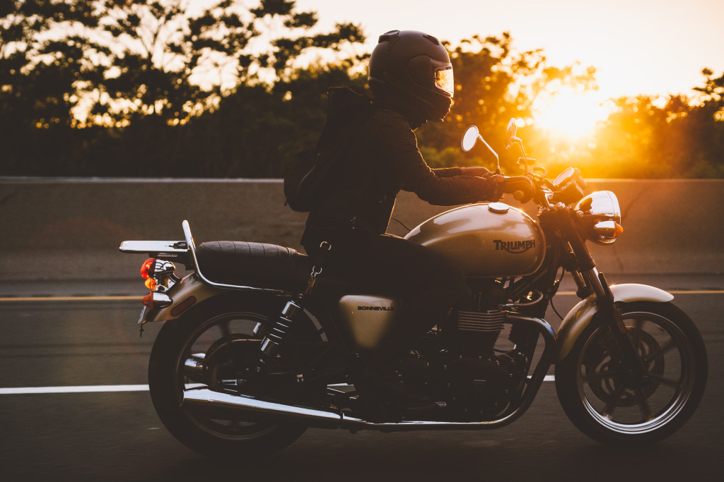 triumph sunset