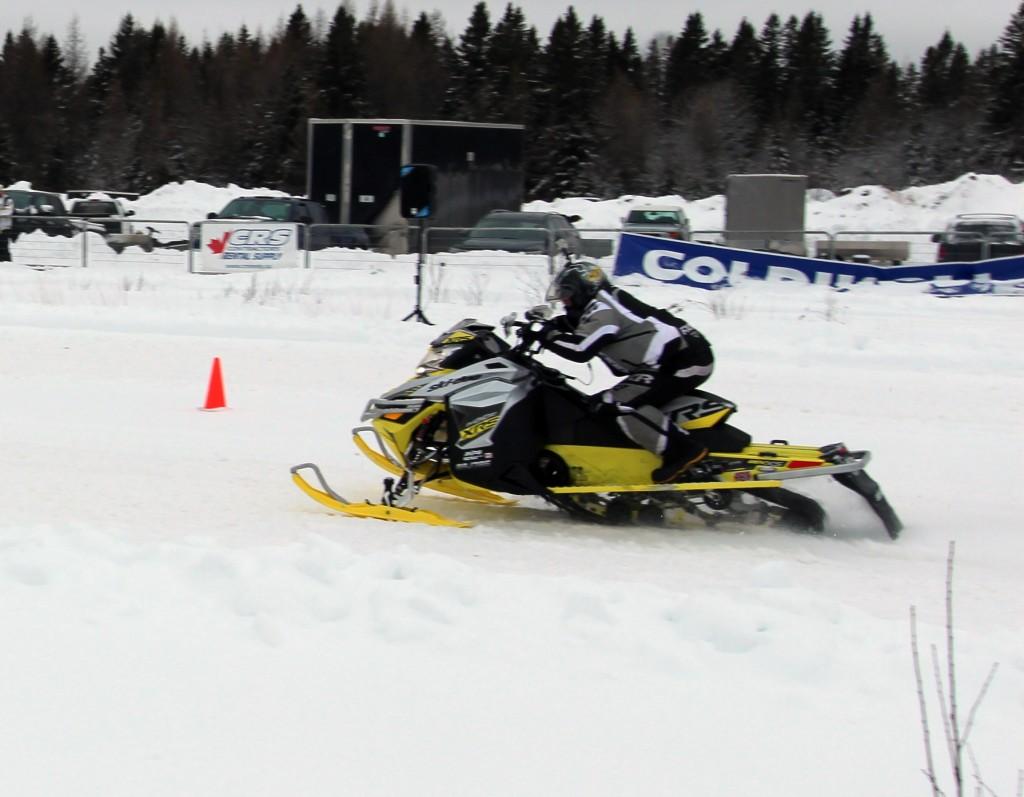 someone racing